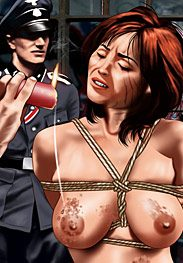 War camp - He plunged into her tight pussy and fucked her for a few strokes by De Haro